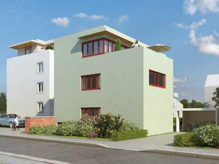 Neubau: Haus im Haus: 5-Zimmer-Wohnung, Parkett, EBK, Holzdecke, große Terrasse, ruhige Lage