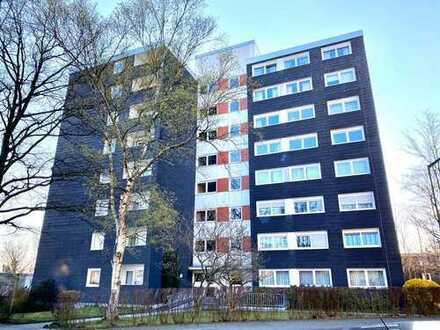 Modernisierte 2 ZKB Wohnung mit schöner Aussicht, stufenlosem Zugang und Balkon am Kornberg