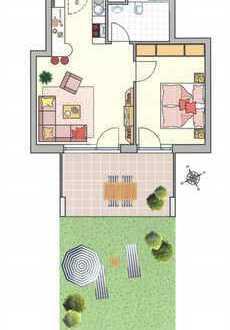Neubau 2 Zimmer Wohnung mit Garten in wendlingen