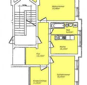 3-Raum-Wohnung mit Terrasse und Gartennutzung