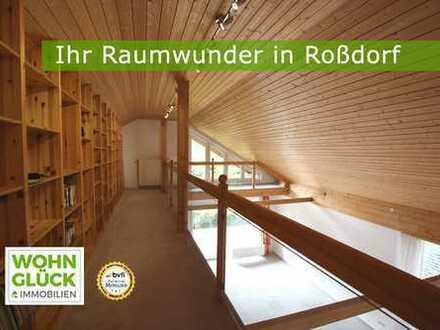 Hübsche Galeriewohnung in Roßdorf - inklusive Markenküche und Garten!