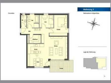 Erstbezug mit Terrasse: attraktive 3,5-Zimmer-Erdgeschosswohnung in Bad Schussenried