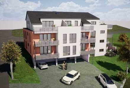 Dachgeschosswohnung mit Dachterrasse und Fernblick in die Natur, Neubau in Reinhausen