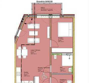 Erstbezug: 2-Zimmer-Wohnung (Rollstuhl gerecht ) mit Einbauküche und Balkon in Bahrenfeld, Hamburg