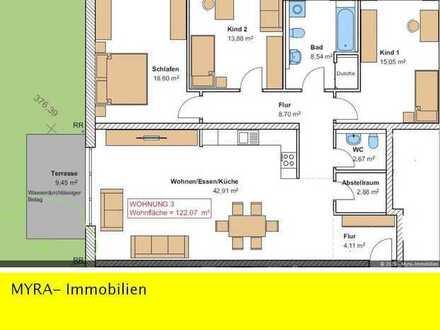 *Projektiert* EG-Wohnung Nr.3 mit Balkon und TG-Stellplatz - Barrierefreie & behindertengerecht *
