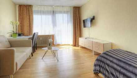 Business Apartment im Hotel mit Wlan, Balkon, TV, Du/Wc, Küche, Waschmaschine, Parkplatz, ab 1 Monat