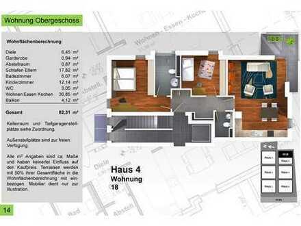 Provisionsfrei - Haus 4_82,31qm 3 Zimmer Terrassenwohnung