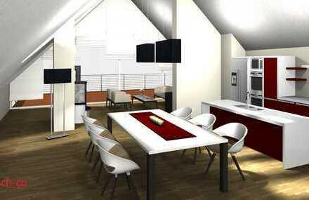 Erstbezug: exklusive 4-Zimmer-Dach-Wohnung mit großer Loggia und unverbautem Blick ins Grüne