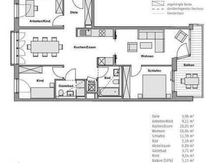 Erstbezug mit Balkon: attraktive 4-Zimmer-Wohnung mit Balkon in Grünau (Köpenick), Berlin
