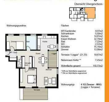 Erstbezug: TOP moderne 3,5-Zimmer-Wohnung mit Einbauküche und Balkon in Owingen
