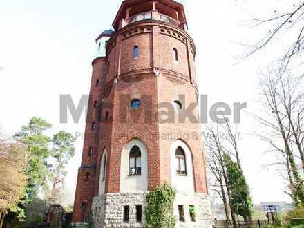 Vielseitiges Einzelstück: Individuell nutzbarer Wasserturm mit Außenbereich vor den Toren Berlins!