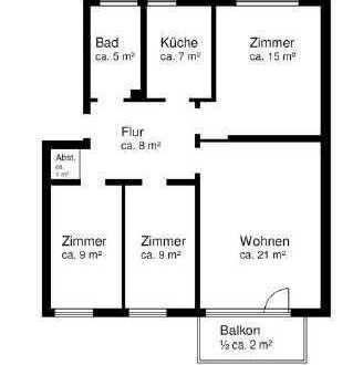 Sonnige 4-Zimmer-Wohnung in Kiel-Wellsee