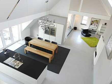 Exklusiver 165qm Loft, Galerie, Luxusküche, 2 sonnige Dachterrassen, 3-fach-Garage, ruhig u. zentral