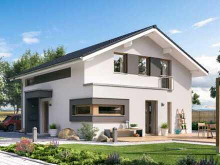 Modernes Einfamilienhaus von LivingHaus***Jetzt Baukindergeld als Eigenkapital nutzen***