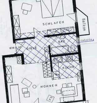Moderne, helle möblierte 2-Zimmer Wohnung in zentrumsnaher Lage
