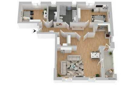 Helle & größzügige 3-Zimmerwohnung Neubau