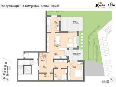 Herrliche Aussicht - 3 Zimmer Wohnung mit Garten! - Jetzt besichtigen!