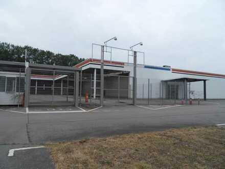 Teilüberdachtes Außenlager in Chemnitz zu vermieten!