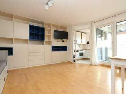 Stilvolle möblierte 1,5 Zimmer-Wohnung mit Westbalkon in Toplage Laim +++zentral+absolut ruhig+++