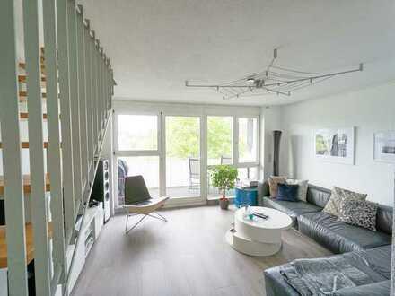 Modernisierte lichtdurchflutete 2-Zimmer-Maisonette-Wohnung mit Balkon