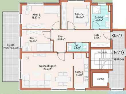 Neubauprojekt Harthausen - Haus 2 - Wohnung 12
