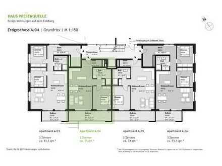 A.04 - 2 Zimmerwohnung im Erdgeschoss mit SW-Ausrichtung - HAUS WIESENQUELLE Feldberg
