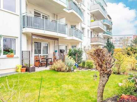 Kapitalanlage: gut vermietete 2-Zimmer-Wohnung mit Garten in Süd-West Lage und Tiefgaragenstellplatz