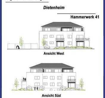 3-Zimmer-Wohnung in Dietenheim im 1. Obergeschoß mit schönem Balkon