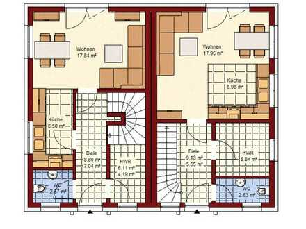 Doppelhaushälfte in Bohnsdorf, auf Wunsch auch Keller möglich.