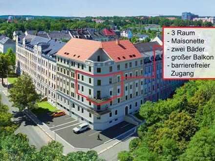 Eigentumswohnung in Chemnitz- Altendorf, Maisonette mit großem Balkon und schöner Aussicht