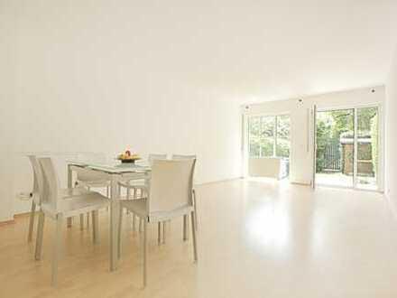 Helle zwei Zimmer Wohnung mit einem kleinen Garten von privat zu vermieten