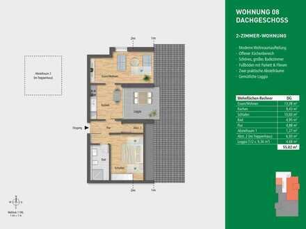 Moderne 2-Zimmer Dachgeschosswohnung!