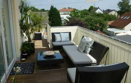 Exklusive, neuwertige 4-Zimmer-Penthouse-Wohnung mit Balkon und Einbauküche in Ingolstadt