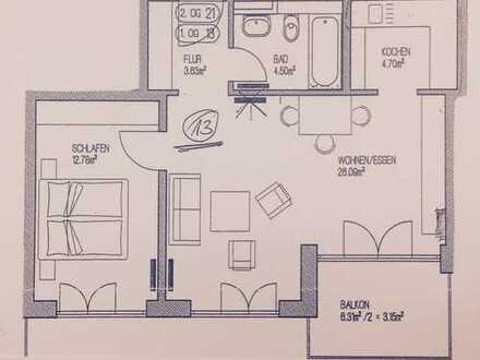 Exklusive, gepflegte 2-Zimmer-Wohnung mit Balkon und Einbauküche in Unterschleißheim