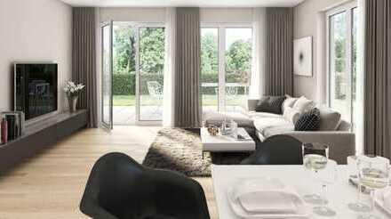 E & Co. - Neubau / Erstbezug. Große 2 Zi.-Erdgeschosswohnung mit Hobbyraum und großem Privatgarten