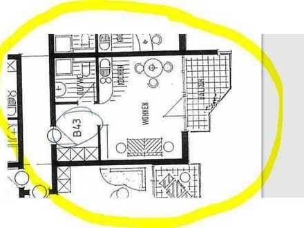 Schöne, gepflegte 1-Zimmer-Hochparterre-Wohnung mit Balkon und Einbauküche in Sigmaringen