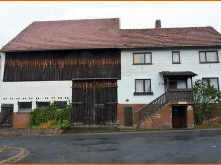 Kleines, gemütliches Wohnhaus mit Scheunengebäude in der Ortslage  von Jossgrund-Oberndorf