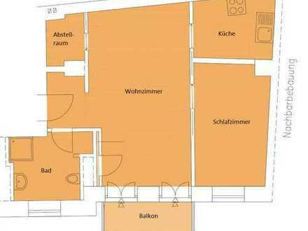 Altstadt / Rückgebäude: Erstbezug einer totalsanierten 2-Zimmer-Wohnung mit Balkon