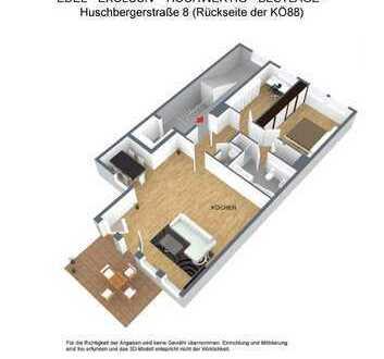 Edel wohnen im Rückhaus der KÖ 88 mit 3 Zimmern und großer Terrasse!