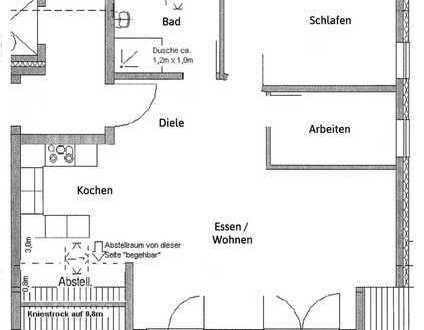 Neuwertige Dachgeschoss-Wohnung mit Balkon und Einbauküche in Kuppingen