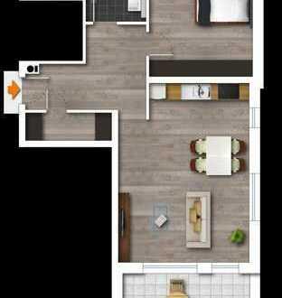 Neubau, 2-Zimmerwohnung im 1 OG. mit Balkon