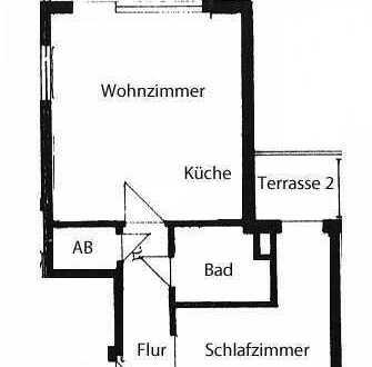 2-Zimmer-Dachterrassen-Wohnung mit EBK und Garage in Pforzheim Innenstadtnähe