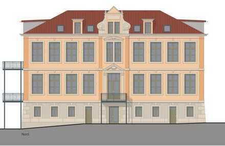 Traumhafte Dachgeschosswohnung mit Dachloggia im Baudenkmal ehem. Schule bei Pirna