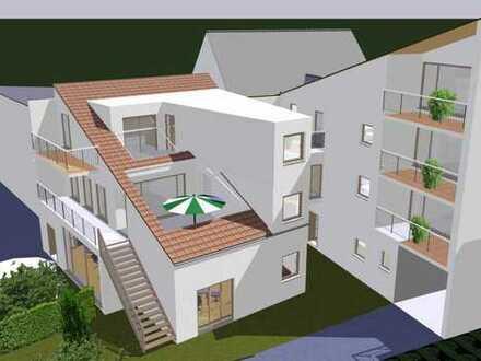 hochwertige moderne 3-Zimmer-Wohnung, zentral gelegen, 78,8 m2, großer Balkon 17 m2, Carport