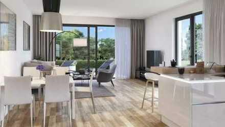 Moderne 2-Zimmer-Wohnung mit West-Balkon an der Singold