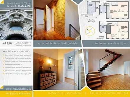 Erstbezug nach Sanierung: 4-Zimmer-Loft-Wohnung mit Balkon und Loggia in Dessau-Roßlau
