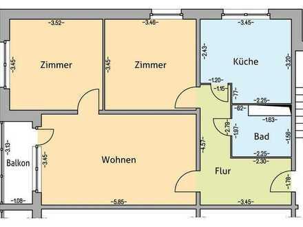 Renovierte 3-Raum-Wohnung in gepflegter ruhiger Eigentumswohnanlage