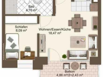 Kernsanierte 1,5-Zimmer-Wohnung mit Balkon!