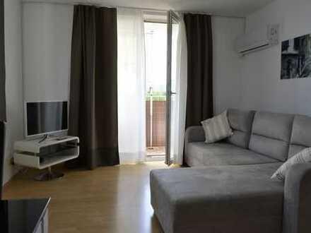 Stilvolle 2-Zimmer-Wohnung mit Balkon und Einbauküche in Hasenbergl, München