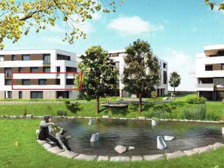 Neue 2,5-Zimmer-Wohnung mit Loggia, 1. OG mit Blick in den Stadtgarten in Aalen